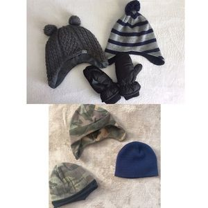 Other - 5 winter hats & 1 pair of mittens